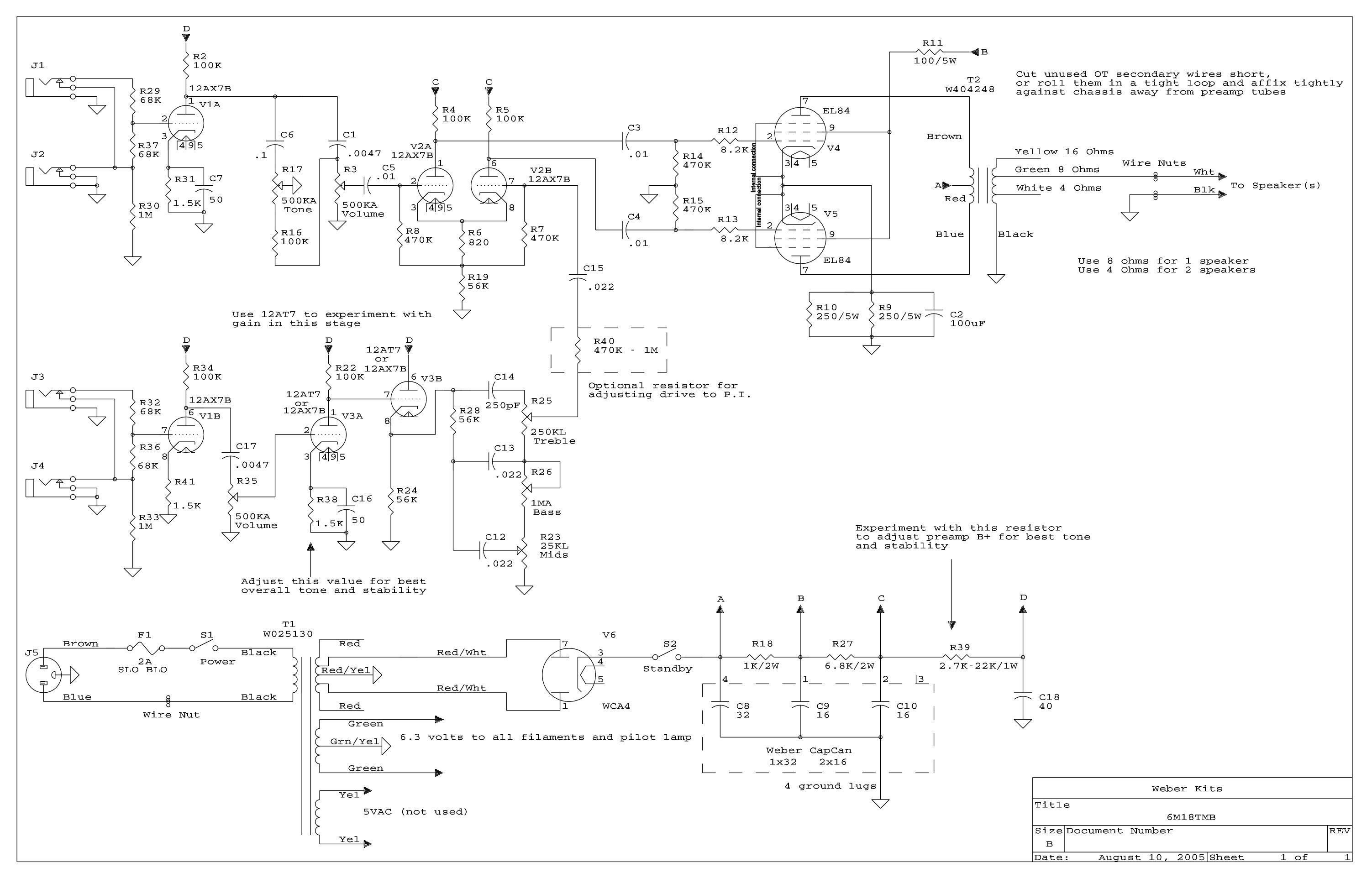 Where can I go with my 18W TMB circuit? | The Gear Page on hiwatt schematic, 18 watt tmb schematic, marshall 18 watt amp kit, 120 watt tube amp schematic, peavey 260 schematic, marshall amp schematics, trinity 18 watt mkii schematic, 18 watt amp schematic, marshall 2210 schematics, marshall 50 watt plexi layout, bluesbreaker schematic, 5 watt tube amp with reverb schematic,