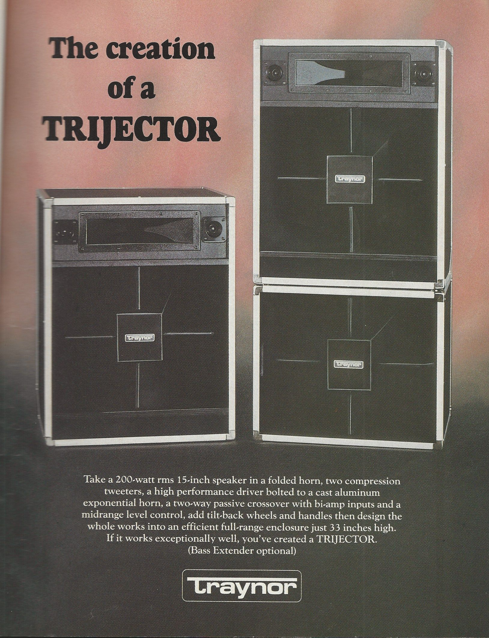 Image result for traynor trijector sales ad