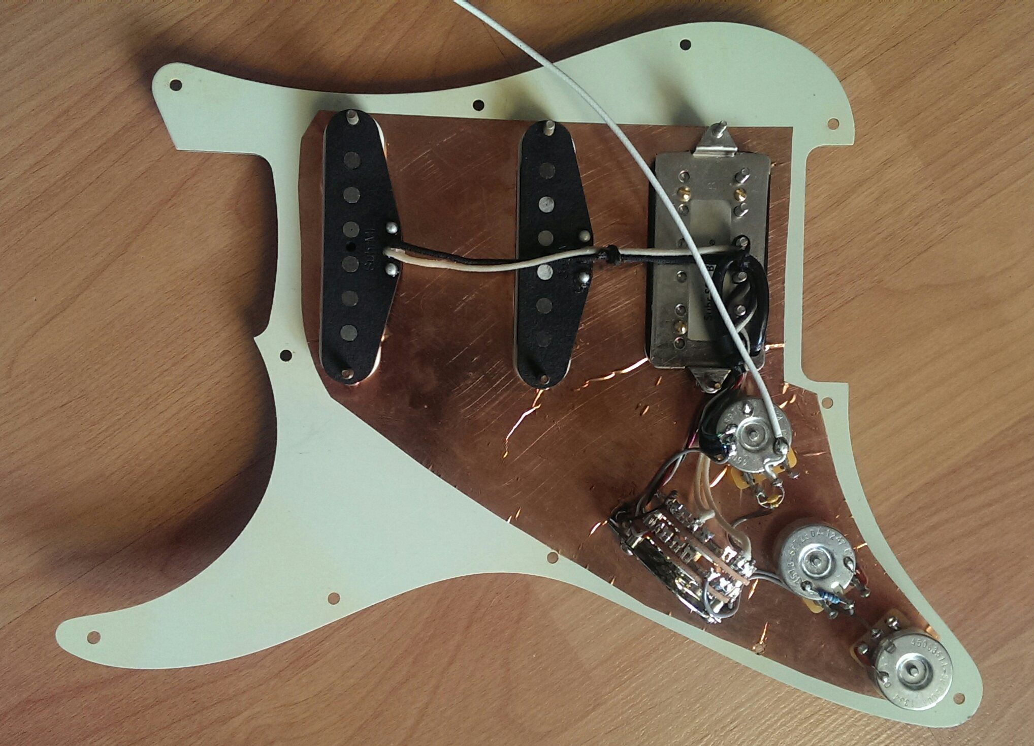 Suhr Pickup Wiring Just Another Data Pick Up Strat Diagram Sold Classic Antique Loaded Pickguard Mint Green The Gear Gibson