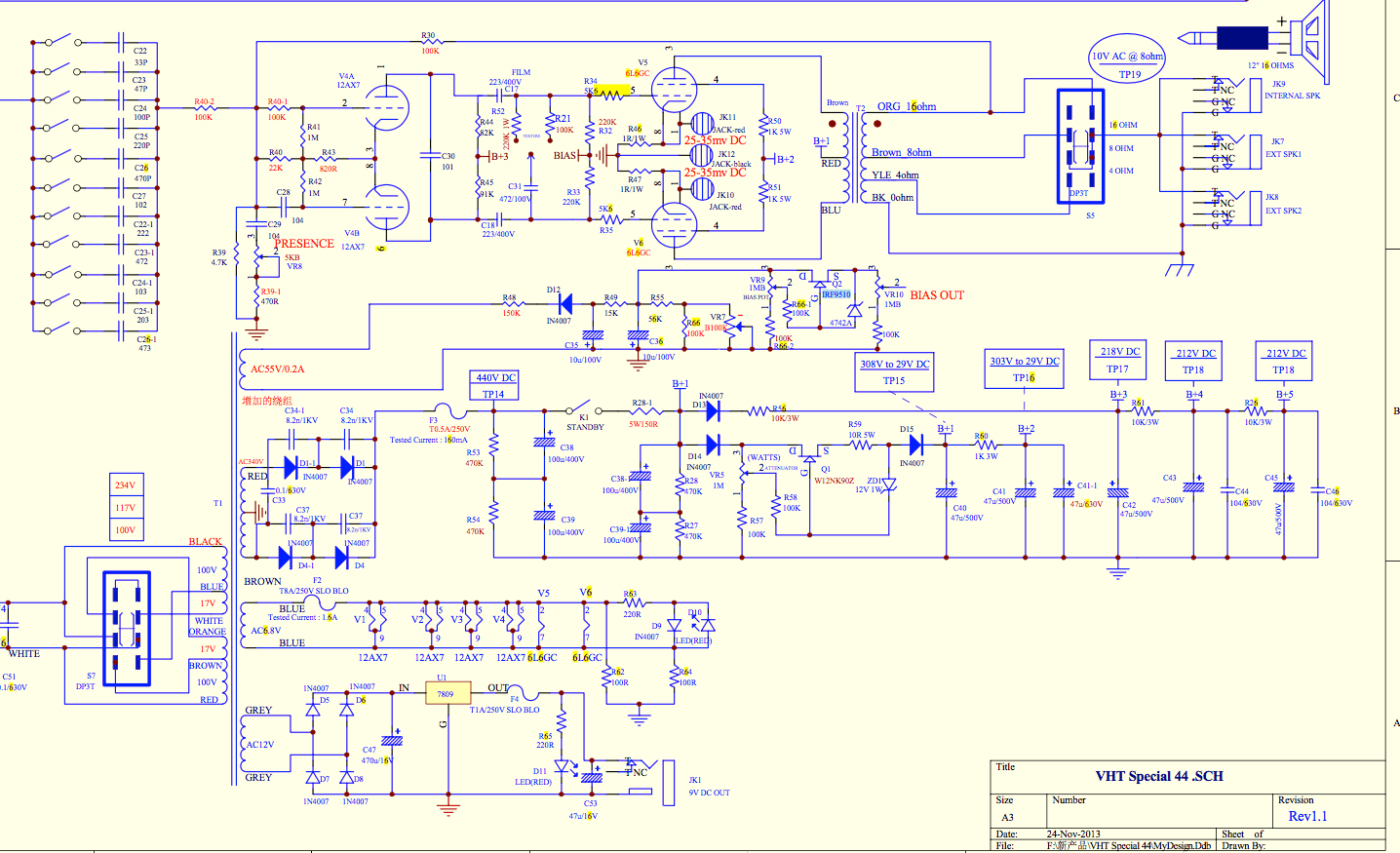 Need help identifying this and its purpose | The Gear Page Vht Special Ultra Schematic on